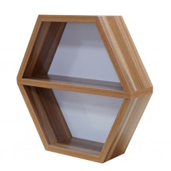 Hexagon Wall Shelf Melamine MDF Ref FC210