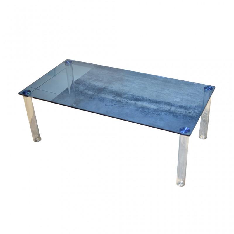 Vitro Coffee Table Blue Glass Top