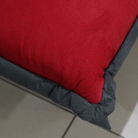 Christal Sofa Bed Red Fabric