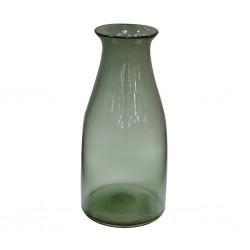 Vase 25cm, green glass