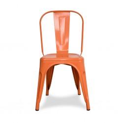 Fabio Chair Orange Finish