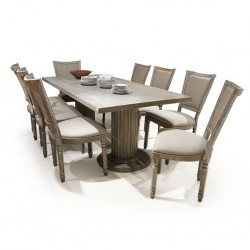 Alice Table and 8 Chairs Oak Rubberwood