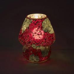 Mosaic Glass Lamp LIWT-KGV328 Red