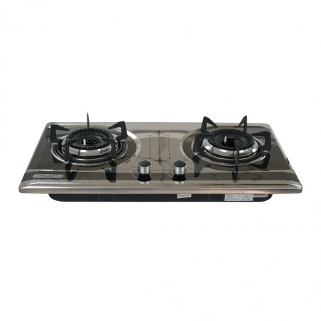 Concetto CGB-22083 Built in Blk S/S Double Burner