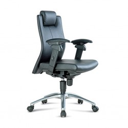 Executive Medium Back Chair FE03L Semi Leather
