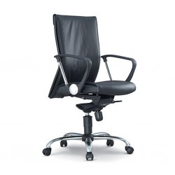 Executive Medium Back Chair FU03L Semi Leather