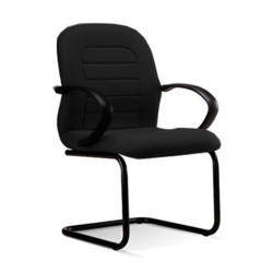 Visitors Chair ER 04 Seat Black Fabric