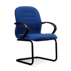 Visitors Chair ER 04 Seat Blue Fabric
