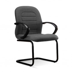 Visitors Chair ER 04 Seat Grey Fabric