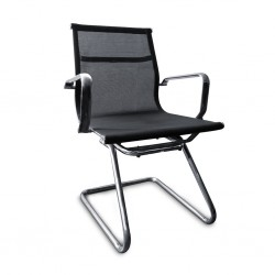 Visitors Chair Carrier H068 B Semi-Leather