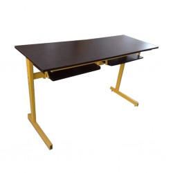 Student Desk Double With Open Drawers