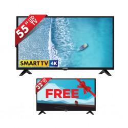 BLAUPUNKT BP 5502 SMART 55'' UHD SMART LED TV & Free Blaupunkt BP3202 32'' HD Ready TV