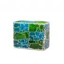 Mosaic Glass Lamp Rect LIWT-KGV823 Blue&Green