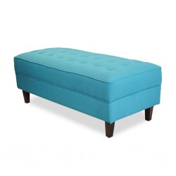 Cove Ottoman In Fabric Sachi Teal Color