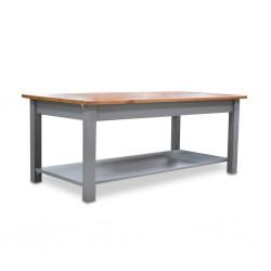 Topazio Coffee Table Pine Wood Grey Finish