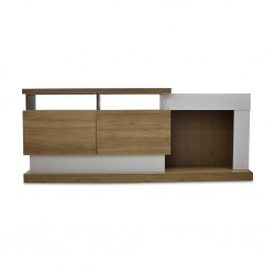 Fusion Low TV Cabinet Halzelnut/Off white PB