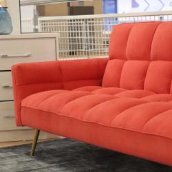 Floresta Sofa Bed Red Fabric