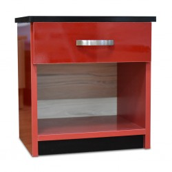 Rally Bedside Table MDF Red