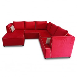 Vallusto Cranberry Large Sectional Corner