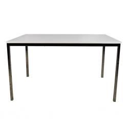 Mess Table With Tubular Metal Legs