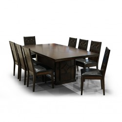 Denisa Table and 8 Chairs Rubberwood