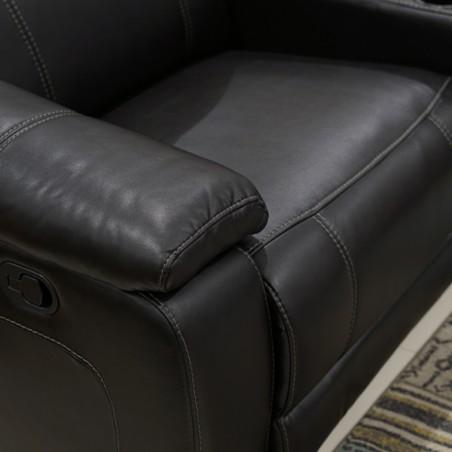 Laney Sofa Corner Brown Leather Gel