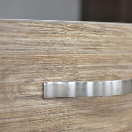 Vanitio Night Table 1 Drawer Brown Wood MDF
