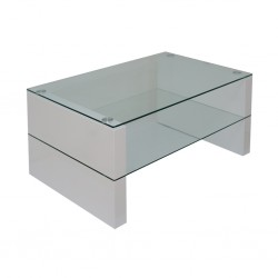 Marana Coffee Table MDF/Glass Top& Shelf