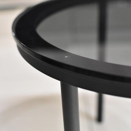 Elan Side Table Metal & Glass top Grey