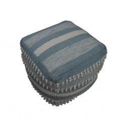 Pouf Hand Woven, Cotton & Polyester with EPS beans-SE-PF-1067