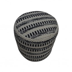 Pouf Hand Woven, Cotton & Polyester with EPS beans-SE-PF-1069