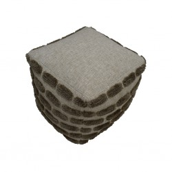 Pouf Hand Woven, Cotton with EPS beans filling ins-SE-PF-1077