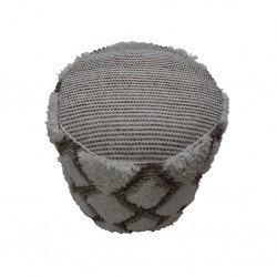 Pouf Hand Woven,Wool & Cotton with EPS beans filli-SE-PF-1089