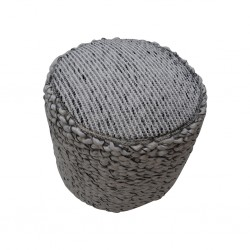 Pouf Hand Woven,Wool & Cotton pouf with EPS beans- SE-PF-1090