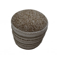 Pouf Hand Woven, Cotton & Polyester with EPS beans- SE-PF-1091