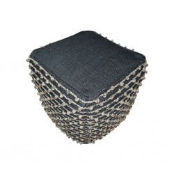Pouf Hand Woven, Cotton with EPS beans filling ins- SE-PF-1096