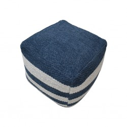 Pouf Hand Woven, Cotton & Polyester with EPS beans- SE-PF-1102