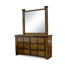 Zanne Dressing Table with Mirror Rubberwood