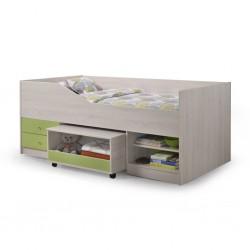 Sagua Bed 90x190 cm White Wash/Grey PB