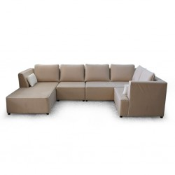 Vallusto Latte Large Sectional Corner