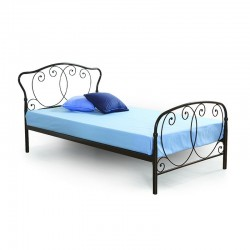 Harmony Bed 107x190 cm Platinum Metal