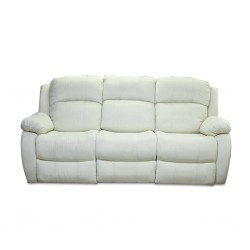 Sabella 3 Seater Reclining Sofa Ivory Color Fabric