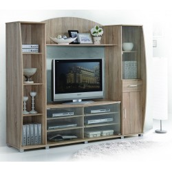 Fairmont Louisa High TV Cabinet Oak Particle Board
