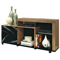New Flash Low TV Cabinet Brown Particle Board