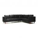 Emsworth Sofa Corner RHF Black M/F