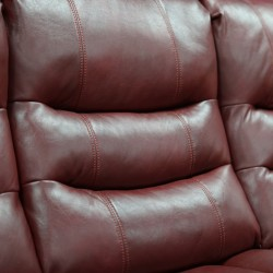 Arden Sofa 3+2+1 Red Leather/PVC