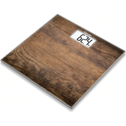 "Beurer GS203 Wood 150Kg Bathroom Scale ""O"""