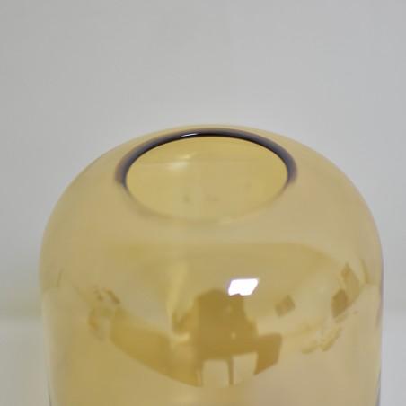 Vase 18cm, brown glass