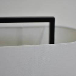 Table Lamp Metal Dark Wood Finish