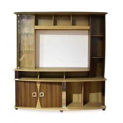 Roma High TV Cabinet Teak Particle Board